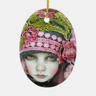 Ivory & Lace Child Ceramic Oval Decoration