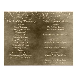 Ivory Lanterns Folded Wedding Program 21.5 Cm X 28 Cm Flyer