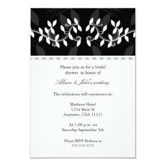 "Ivory Leaf Border Bridal Shower Invitation 3.5"" X 5"" Invitation Card"