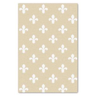 Ivory Neutral Fleur de Lys Tissue Paper