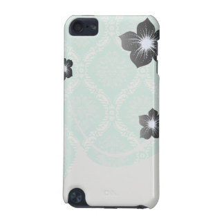 ivory pale greens damask pattern design iPod touch 5G cases