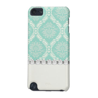 ivory pale greens damask pattern design iPod touch (5th generation) cover