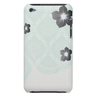 ivory pale greens damask pern design barely there iPod case