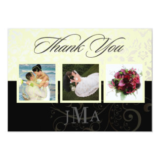 Ivory + Pearl Damask, Thank you cards, DIY colors! Card
