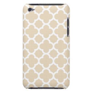 Ivory Quatrefoil Trellis Pattern Barely There iPod Cover