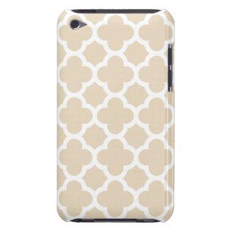 Ivory Quatrefoil Trellis Pattern iPod Case-Mate Cases