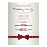Ivory Red Bow Tie Corporate Christmas Party Personalised Announcement
