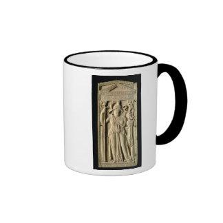 Ivory relief tablet ringer mug