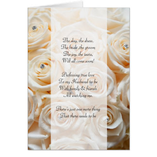 Ivory rose and diamonds  Be my bridemaid card