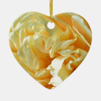 Ivory Rose Ceramic Heart Decoration