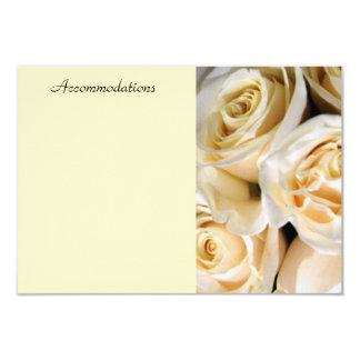 Ivory Rose Enclosure Card 9 Cm X 13 Cm Invitation Card