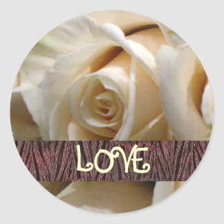 Ivory Rose Love Stickers