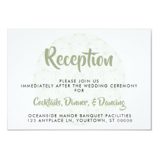 Ivory Rose Mandala Wedding Reception Card