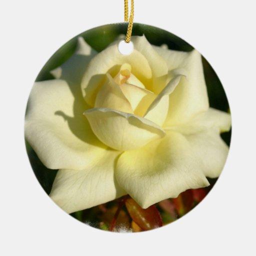 Ivory Rose Ornament