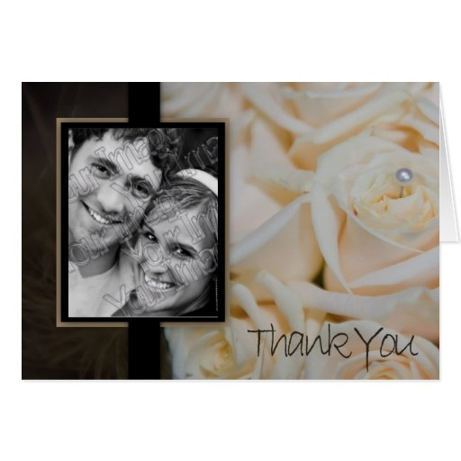 ivory rose Thank you card