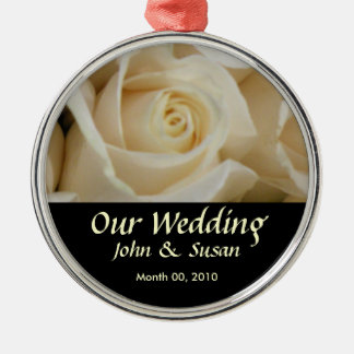 Ivory Rose Wedding Ornament