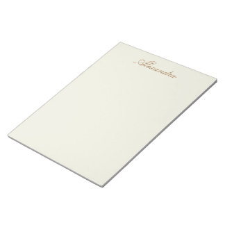Ivory Solid Color Customize It Notepad