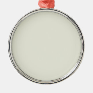Ivory Solid Color Silver-Colored Round Decoration