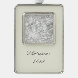 Ivory Solid Color Silver Plated Framed Ornament