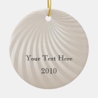 Ivory Spiral Stripe Christmas Ornament
