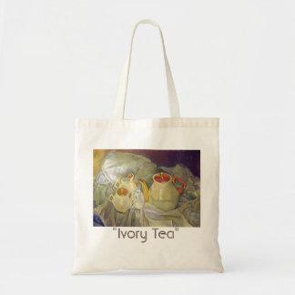 Ivory Tea Tote Bag