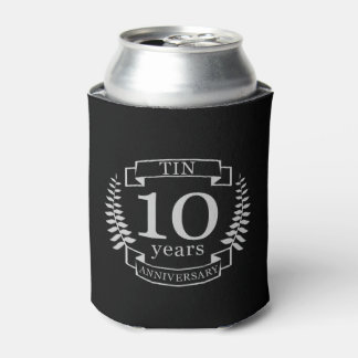Ivory Traditional wedding anniversary 10 years Can Cooler
