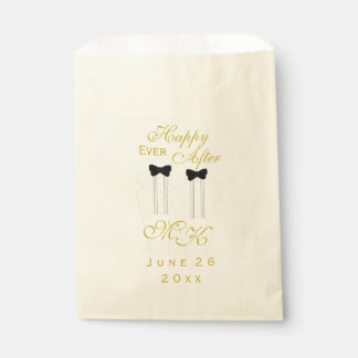 Ivory Tuxedo Wedding Happy Ever After Favor Bag