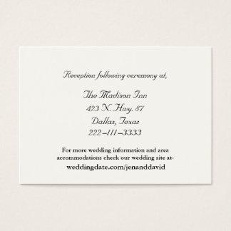 Ivory Wedding enclosure cards