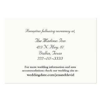 Ivory Wedding enclosure cards Pack Of Chubby Business Cards