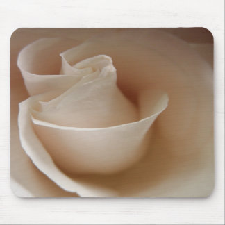 Ivory White Rose Flower Mousepads