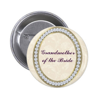 Ivory with Pearls Grandmother of the Bride Button