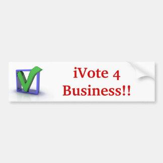 iVote 4 Business!! Bumper Sticker