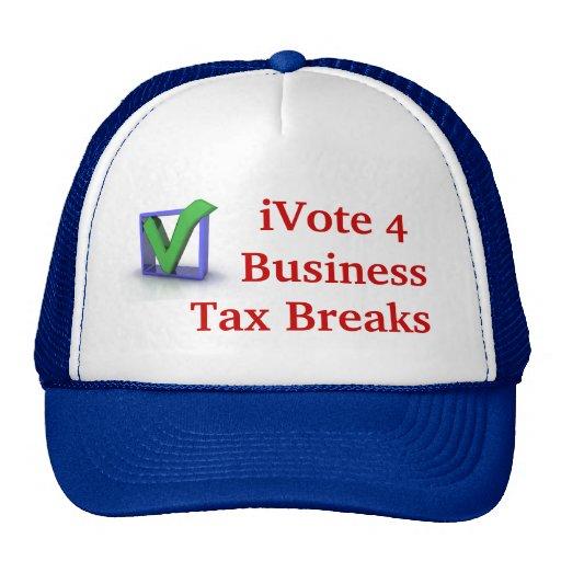 iVote 4 Business Tax Breaks Cap Trucker Hats