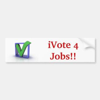 iVote 4 Jobs Bumper Sticker