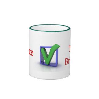 iVote Tax Breaks Ceramic Mug
