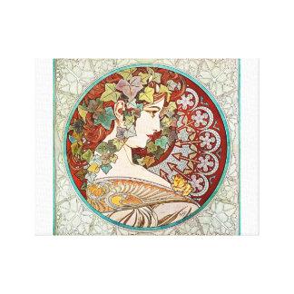Ivy - Alphonse Mucha Canvas Print