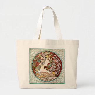 Ivy - Alphonse Mucha Large Tote Bag