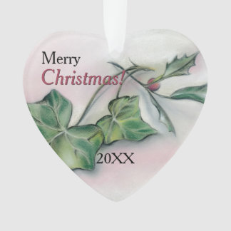 Ivy and Holly Christmas Ornament