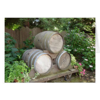 Ivy and Wine Barrels Card
