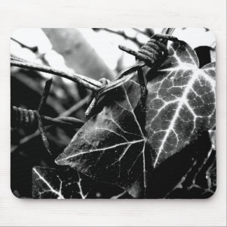 Ivy & barbed wire mouse pad