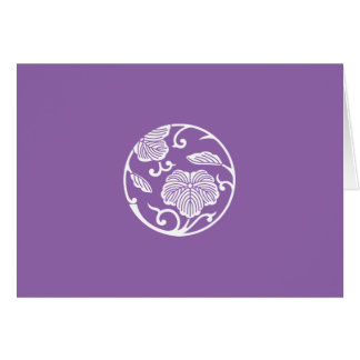 Ivy branch circle card
