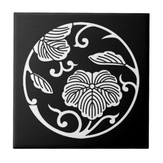 Ivy branch circle ceramic tile