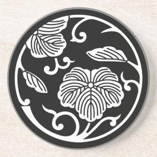 Ivy branch circle coaster