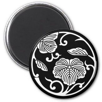 Ivy branch circle magnet