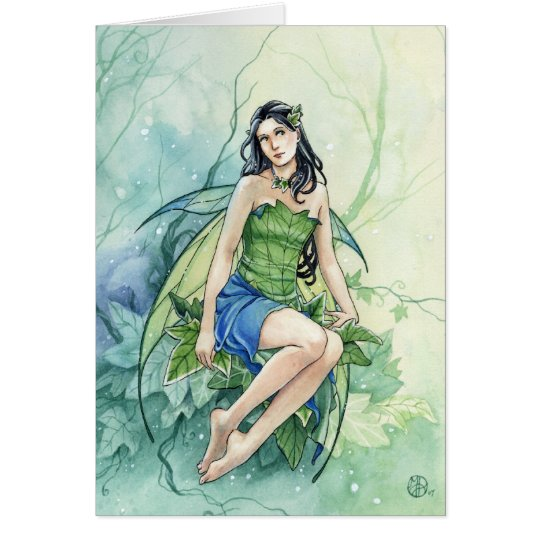 Ivy Fairy watercolor card