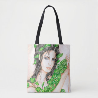 Ivy Girl Portrait Drawing Sketch Illustration Tote Bag
