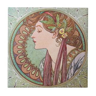 Ivy Goddess Small Square Tile