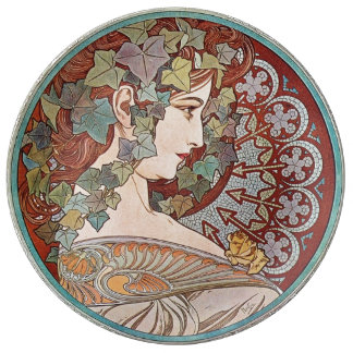 Ivy godess porcelain plates