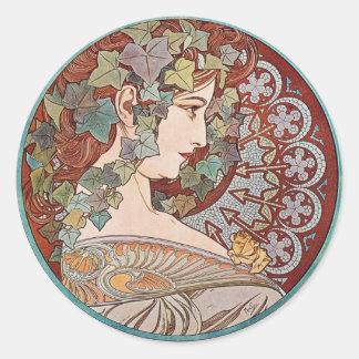 Ivy godess round stickers