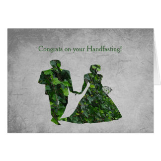 Ivy Green Man & Green Lady Handfasting Blessings Card
